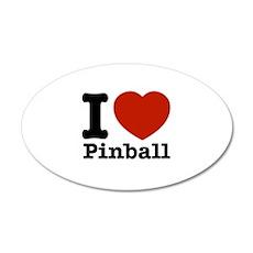 I love Pinball 22x14 Oval Wall Peel