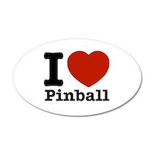 I love Pinball 38.5 x 24.5 Oval Wall Peel