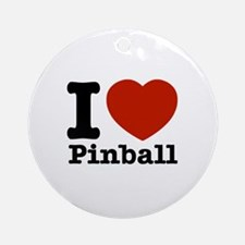 I love Pinball Ornament (Round)