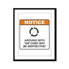 Chief / Argue Framed Panel Print