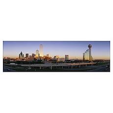 Skyscrapers in a city, Dallas, Texas Poster