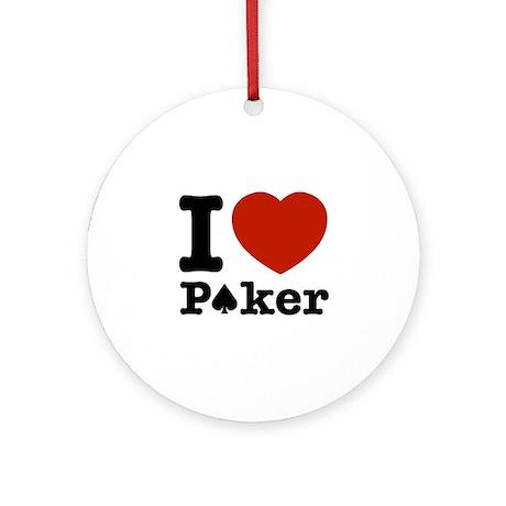 I love Poker Ornament (Round)