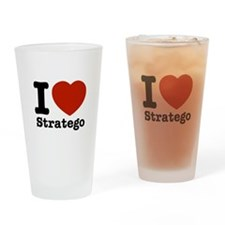 I love Stratego Drinking Glass