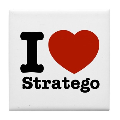I love Stratego Tile Coaster
