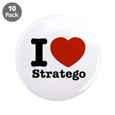 """I love Stratego 3.5"""" Button (10 pack)"""