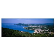 High angle view of a bay, Llafranc, Costa Brava, S Poster