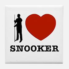 I love Snooker Tile Coaster