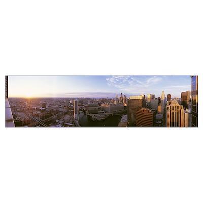 Sundown Chicago IL Poster