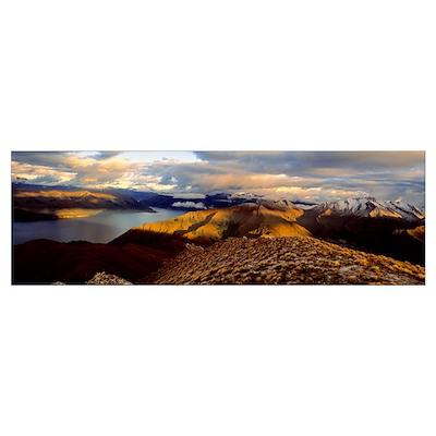 Lake Hawea South Island New Zealand Poster