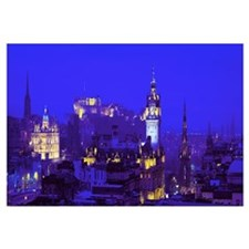 Evening Royal Castle Edinburgh Scotland