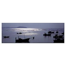Fishing Boats Indian Ocean Sri Lanka Poster