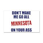 Minnesota Baseball Car Magnet 20 x 12