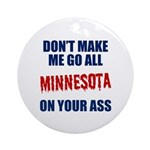 Minnesota Baseball Ornament (Round)