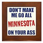 Minnesota Baseball Framed Tile