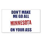 Minnesota Baseball Sticker (Rectangle)