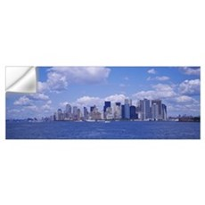 Skyscrapers on the waterfront, Manhattan, New York Wall Decal