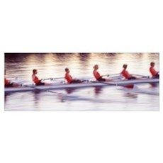Women rowing boat Poster