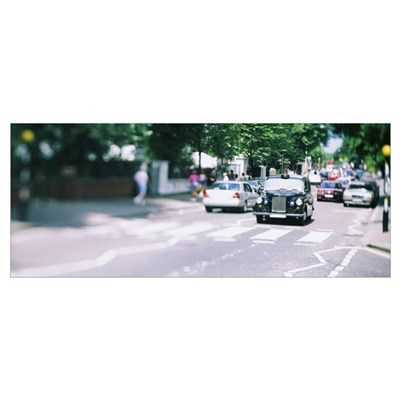 Traffic on a road, Abbey Road, London, England Poster