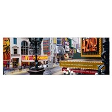 Road running through a market, 42nd Street, Manhat Canvas Art