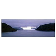 Low-Lying Clouds over Loch Sealg Outer Hebrides Sc Poster
