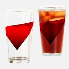 Infinity Heart Drinking Glass