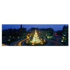 Christmas Lights Metz France Poster