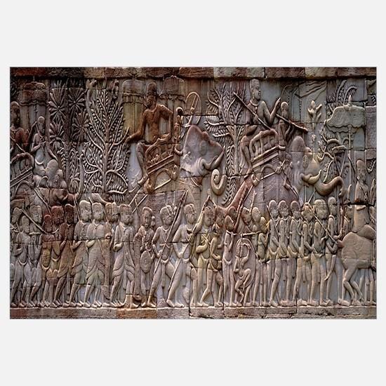 Bas Relief Angkor Wat Cambodia