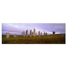 Calanais Standing Stones Isle of Lewis Outer Hebri Poster