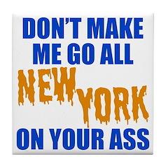 New York Baseball Tile Coaster