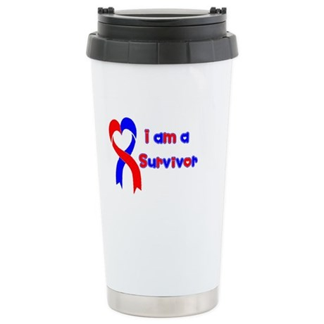I Heart Survivor Stainless Steel Travel Mug