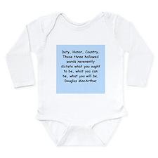 douglas macarthur Long Sleeve Infant Bodysuit