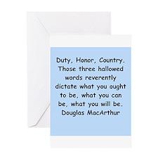 douglas macarthur Greeting Card