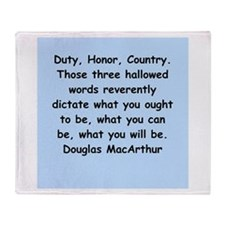 douglas macarthur Throw Blanket