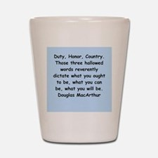 douglas macarthur Shot Glass