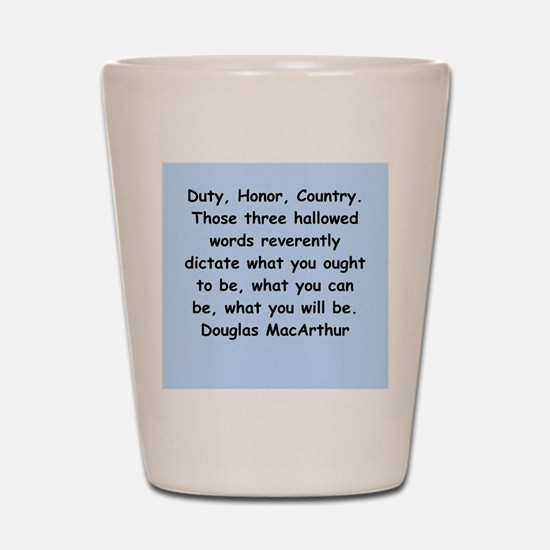 douglas macarthur Shot Glass