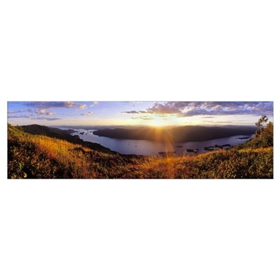 Sunset Lake George Adirondacks NY Canvas Art