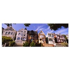 Houses in a row, Presidio Heights, San Francisco,  Poster