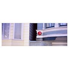 Fire alarm on a house, San Francisco, California Poster