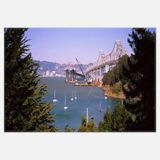 Cranes at a bridge construction site, Bay Bridge,