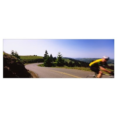 Side profile of a man cycling in a race, Mt Tamalp Canvas Art