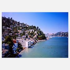 City at the coast, Sausalito, Marin County, Califo