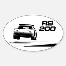 Funny Rally car Sticker (Oval)