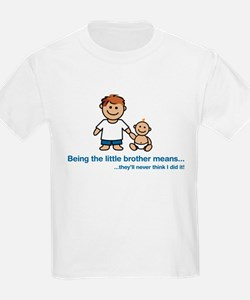 """...they'll never think I did it!"" Kids T-Shirt"