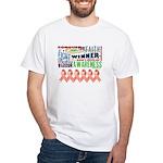 Powerful Uterine Cancer White T-Shirt