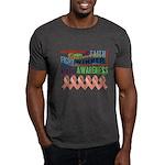 Powerful Uterine Cancer Dark T-Shirt