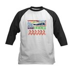 Powerful Uterine Cancer Kids Baseball Jersey