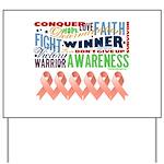 Powerful Uterine Cancer Yard Sign