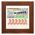 Powerful Uterine Cancer Framed Tile