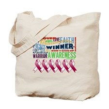 Powerful Throat Cancer Tote Bag