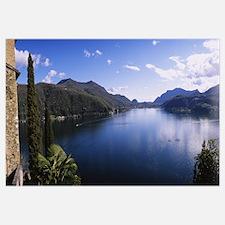Plants at the lakeside, Lake Lugano, Lugano, Ticin